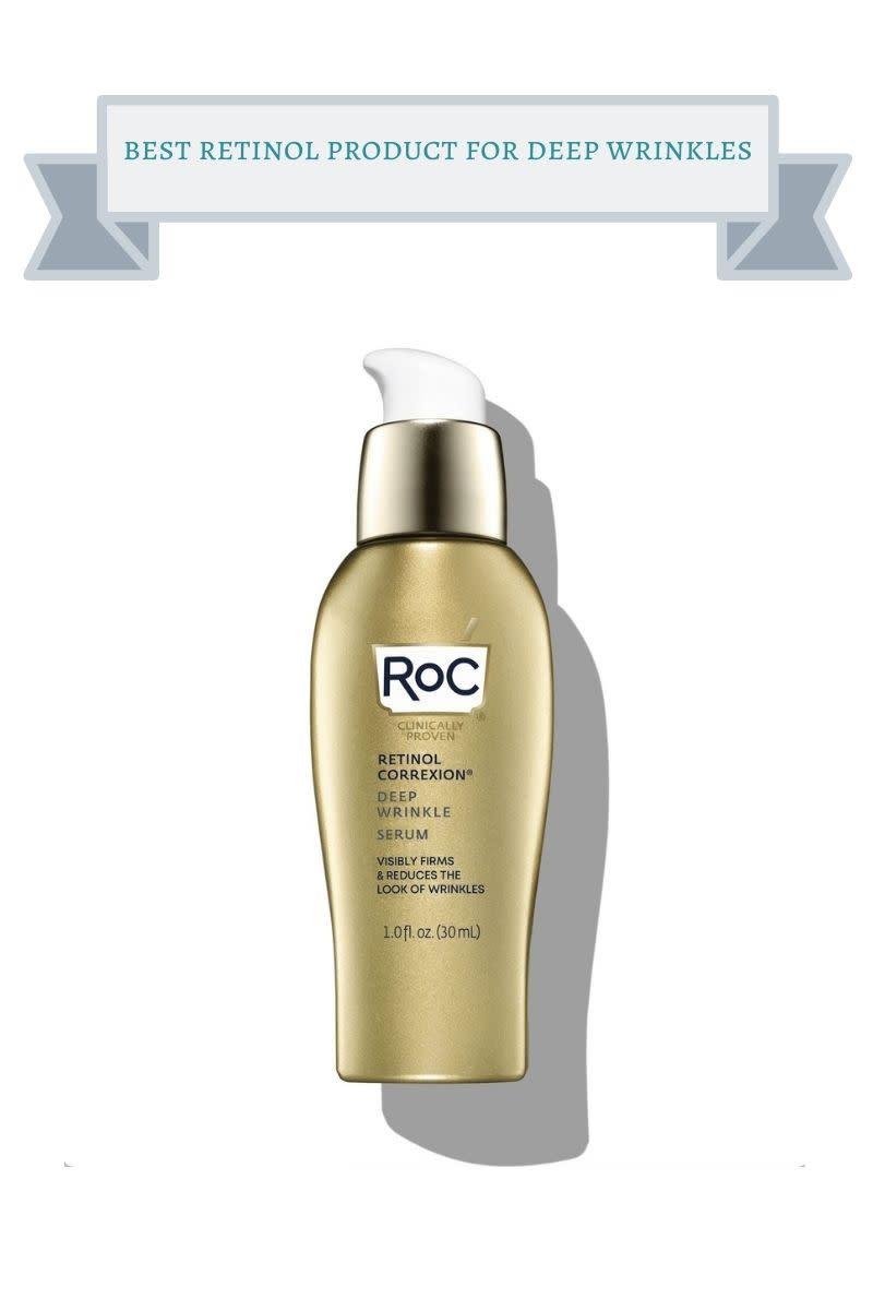 gold bottle of roc deep wrinkle serum