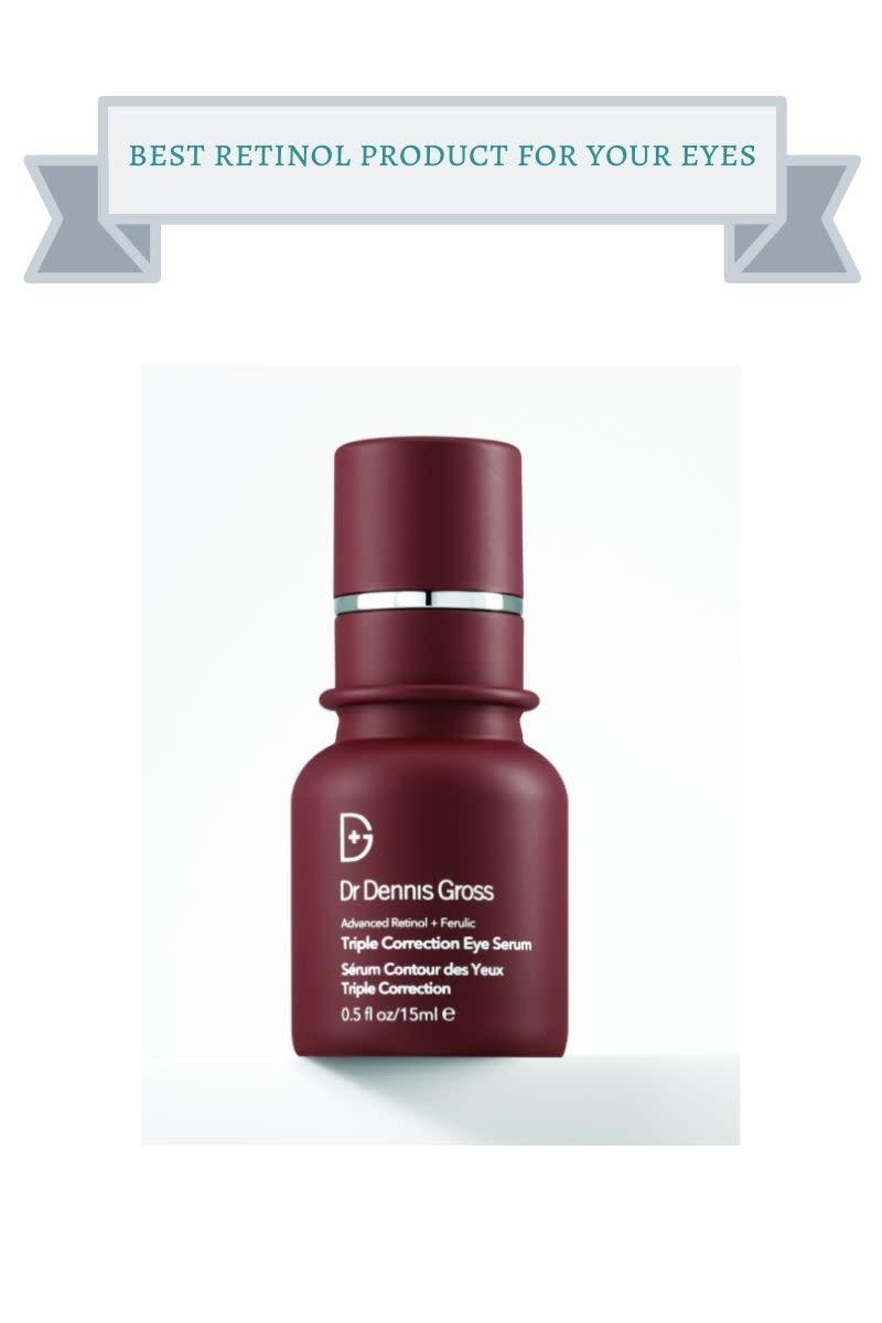 burgundy bottle of dr. dennis gross eye serum