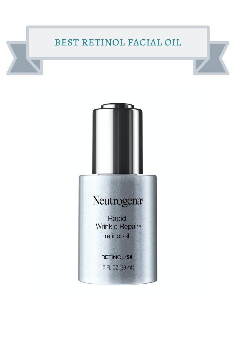 gray bottle of neutrogena facial oil
