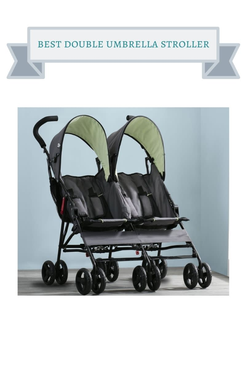 green and black delta double stroller