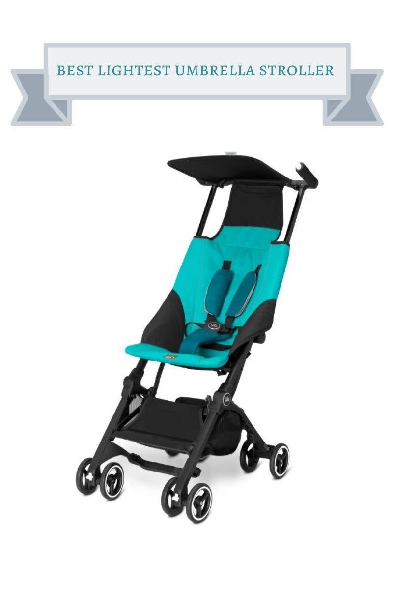 turquoise and black gb umbrella stroller