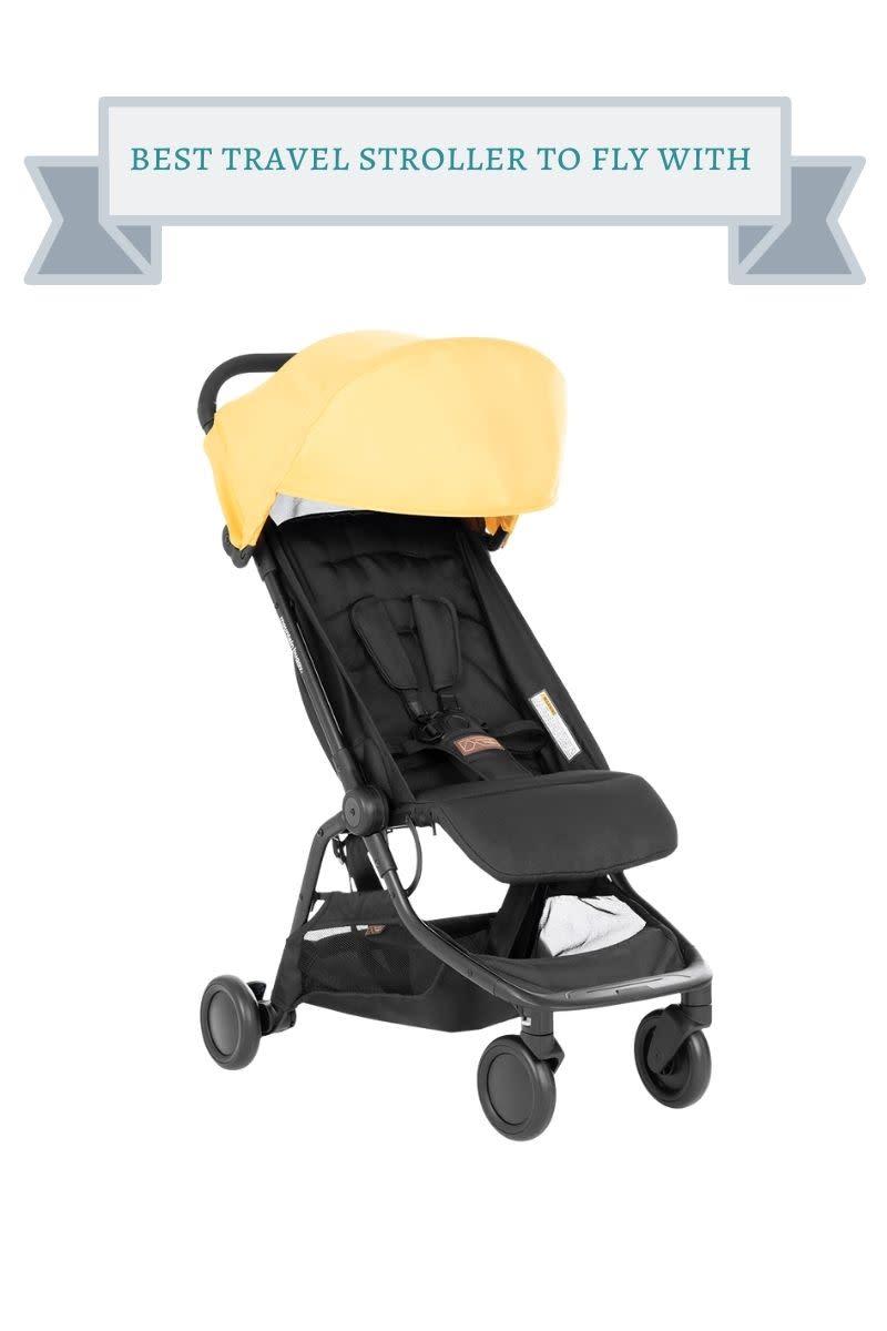 yellow and black mountain buggy nano stroller